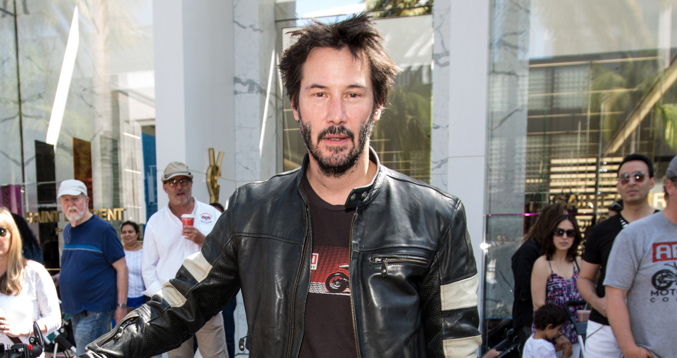 Keanu Reeves at the Rodeo Drive Concours d'Elegance